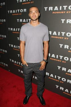 Jesse Williams at the premiere of &quot;Traitor.&quot;